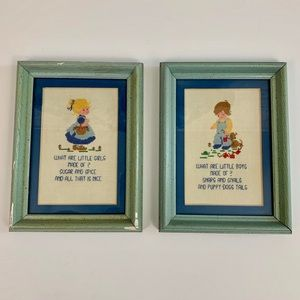 Home | Boy and Girl Framed Cross-stitch